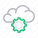 cloud, configure, hosting, preference, setting icon