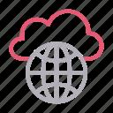 cloud, global, hosting, server, storage