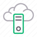 cloud, database, hosting, pc, server icon