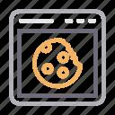 browser, cookies, internet, online, window icon