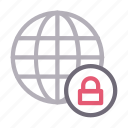 browser, global, lock, private, world icon