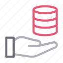 database, hosting, protection, secure, server icon