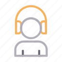 avatar, headphone, services, support, user icon