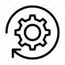 cogwheel, management, refresh, reload, setting icon