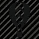 air, aircraft, balloon, flight, journey, sport, striped icon