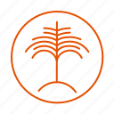 beach, palm, plant, tree icon