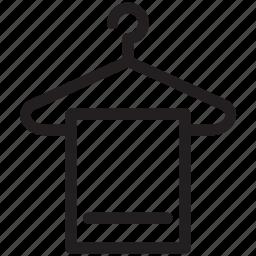 bathing, hanged towel, hanger, towel, wiping towel icon