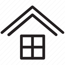 apartment, home window, house window, hut window, window icon