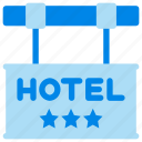 hotel, location, sign icon
