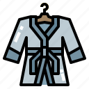 bathrobe, clothing, luxury, robe icon