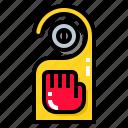 door, hanger, service, sign icon