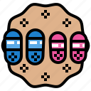 foot, footwear, sandal, shoes icon