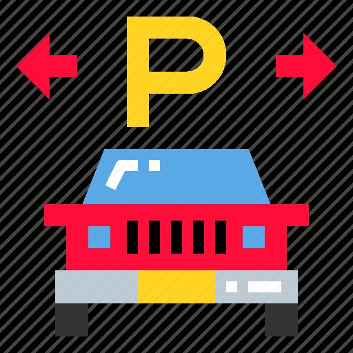 area, car, garage, park icon