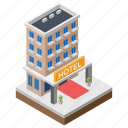 constructed building, hotel, hotel architecture, hotel banner, hotel building icon