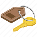 access, door lock, key, password key, room key icon
