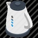 coffee kettle, electric kettle, electrical teapot, kitchen appliance, tea kettle, water boiling