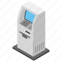 24 hour banking, atm machine, automated teller machine, card money, instant banking icon