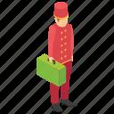 attender, baggage carrier, bellhop, caretaker, doorkeeper, porter icon