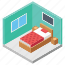 accomodation, hotel booking, hotel reservation, hotel room, master bedroom icon