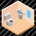 bathroom, hotel washroom, levatory, rest room, toilet icon