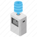 bottled water, water cooler, water dispenser, water purifier, water ripple, water storage icon