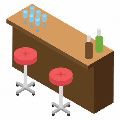 alcohol serving area, bar booser, drink corner, hotel bar, hotel pub icon