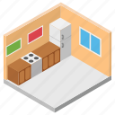 cooking area, cooking place, cuisine, hotel kitchen, kitchen area icon