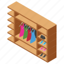 almirah, cabinet, closet, cupboard, room furniture icon