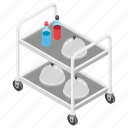 food delivery, hotel trolley, room service, serving trolley, waiters trolley icon