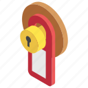 door label, door lock, door tag, hotel room tag, room number icon