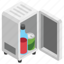 cooling agent, kitchen appliance, mini bar, personal refrigerator, room refrigerator icon