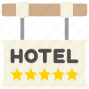 direction, hotel, location, sign icon