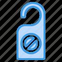 door, hanger, holiday, hotel, service, travel, vacation icon
