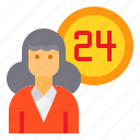 holiday, hotel, receptionist, service, travel, vacation icon
