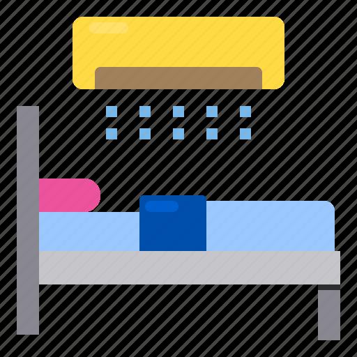 bed, bedroom, furniture, hotel, sleep icon