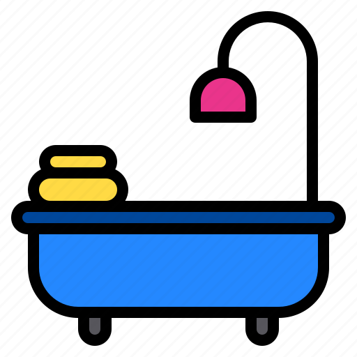 Bath, bathroom, bathtub, hotel, shower icon - Download on Iconfinder