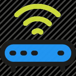 antenna, free, modem, router, signal, wifi, wireless icon
