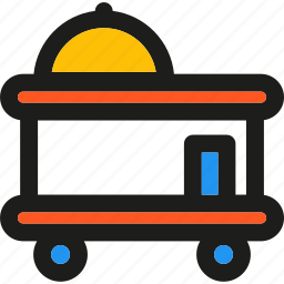delivery, food, holiday, hotel, room, service, supper icon