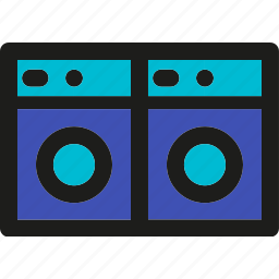 cleaning, equipment, hotel, laundry, machine, washing icon