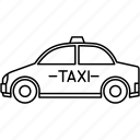 taxi, car, vehicle, transport