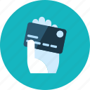 buy, cards, commerce, hand, hotel, money, sale icon
