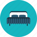 bed, bedroom, comfortable, furniture, hotel, rest icon
