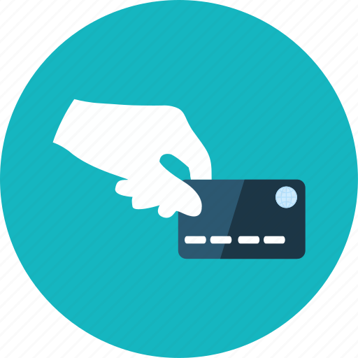 card, credit, ecommerce, hand, money, pay icon
