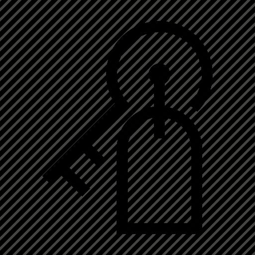 hotel, key, room, service icon