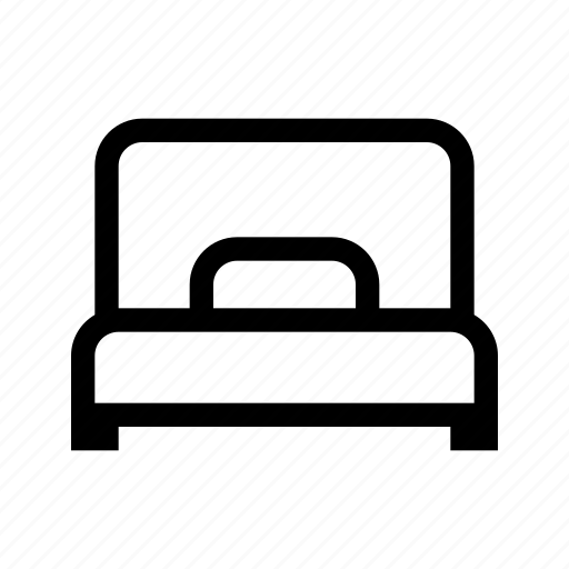 bed, hotel, service, simple bed icon