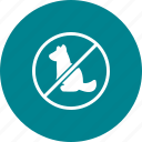 allowed, ban, no, pets, prohibition, sign, stop icon