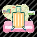 briefcase, luggage, tourist, travel icon