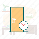 duration, hotel, reservation time, time icon