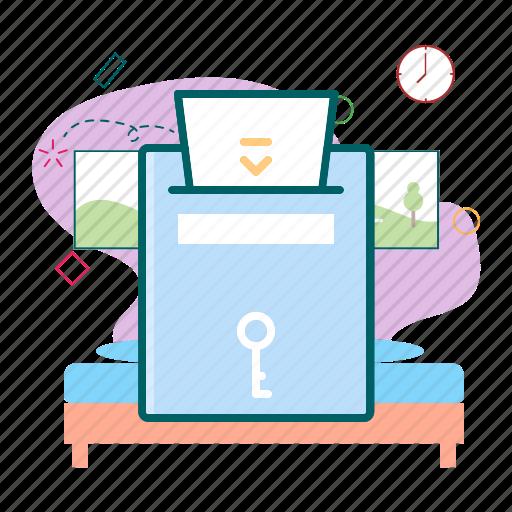 card, electronic, key, lock, secure icon