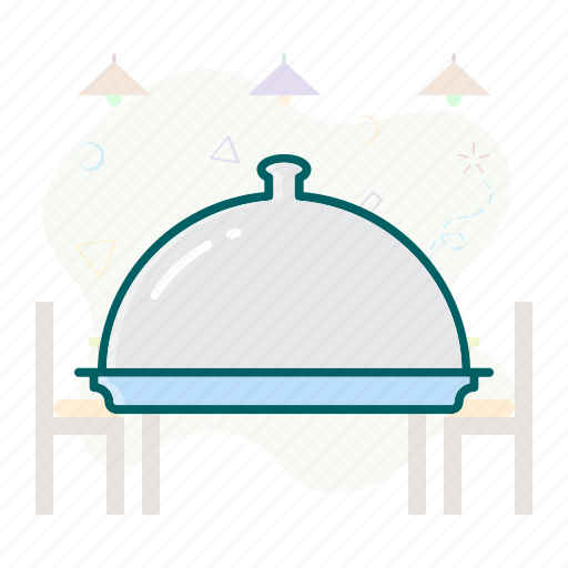 catering, foodcover, plate, rolltop, serving, tray icon